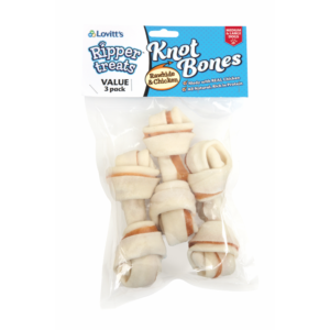 Ripper Rawhide Knot Bones