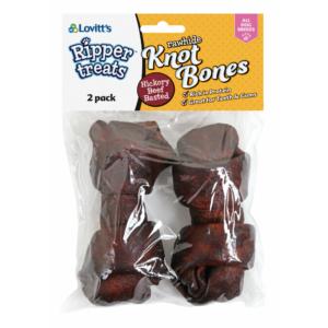Ripper Rawhide Knot Bones Beef